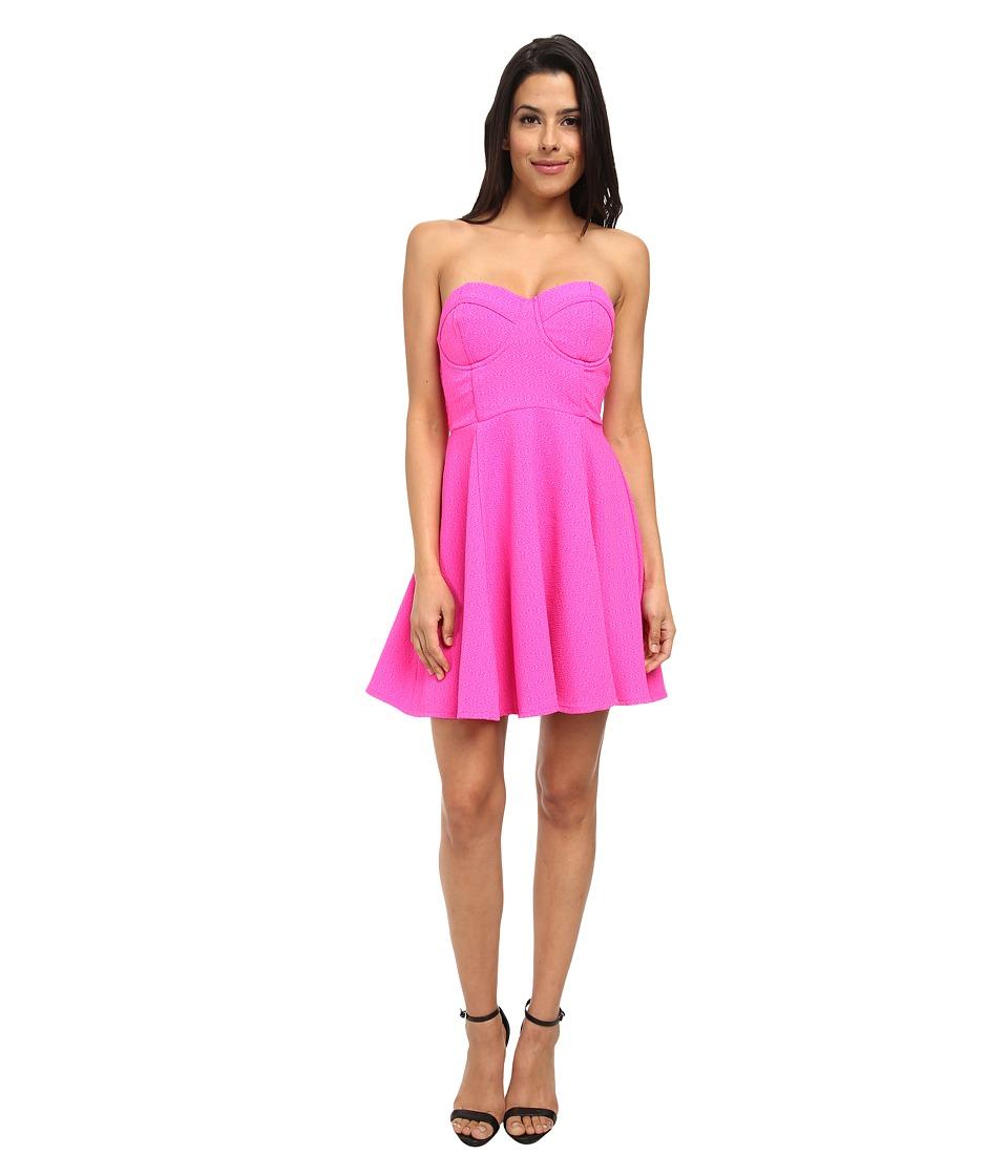 MINKPINK - Meet at Midnight Dress (Shock Pink) Women