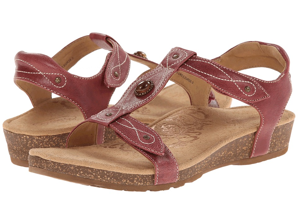 Aetrex - Lori Adjustable Quarter Strap (Aged Red) Women's Sandals