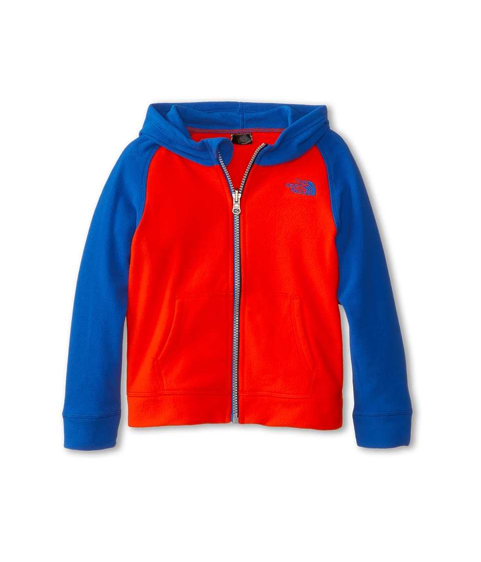 The North Face Kids - Glacier Full Zip Hoodie (Toddler) (Fiery Red/Monster Blue) Boy