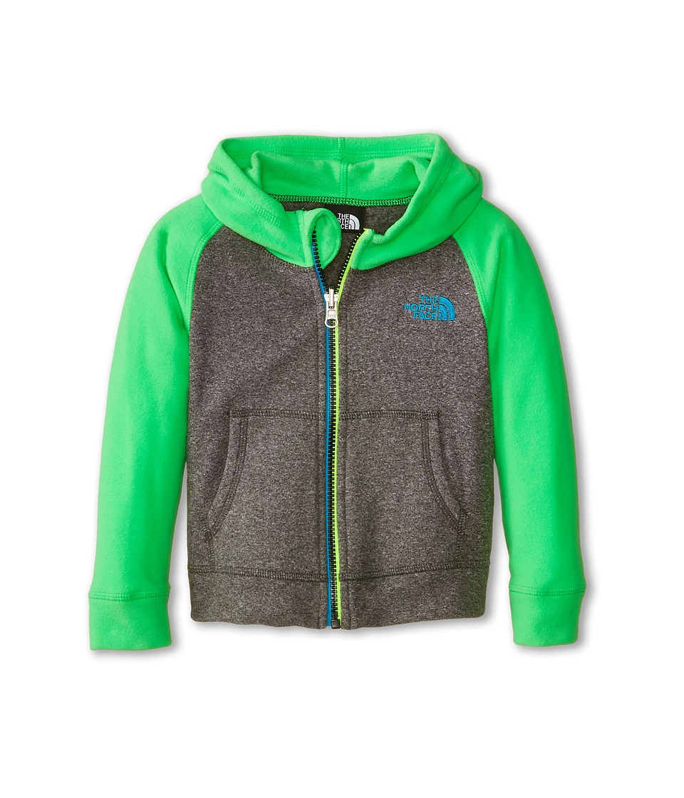 The North Face Kids - Glacier Full Zip Hoodie (Toddler) (Zinc Grey Heather/Krypton Green) Boy's Sweatshirt