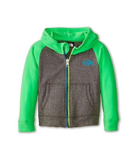 The North Face Kids - Glacier Full Zip Hoodie (Toddler) (Zinc Grey Heather/Krypton Green) Boy's Sweatshirt