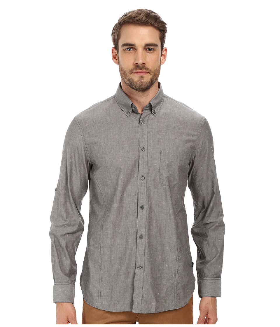 John Varvatos Star U.S.A. - Roll Up Sleeve Shirt w/ Button-Down Collar Single Pocket (Kelp) Men's Long Sleeve Button Up