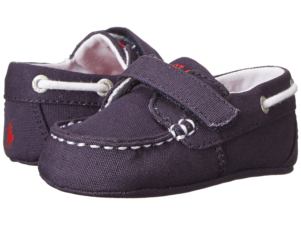 Polo Ralph Lauren Kids - Sander EZ (Infant/Toddler) (Navy Canvas w/ Red Pony) Boys Shoes