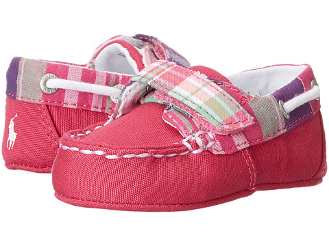 Ralph Lauren Layette Kids - Sander EZ (Infant/Toddler) (Pink Plaid Canvas (NY-254)) Girls Shoes