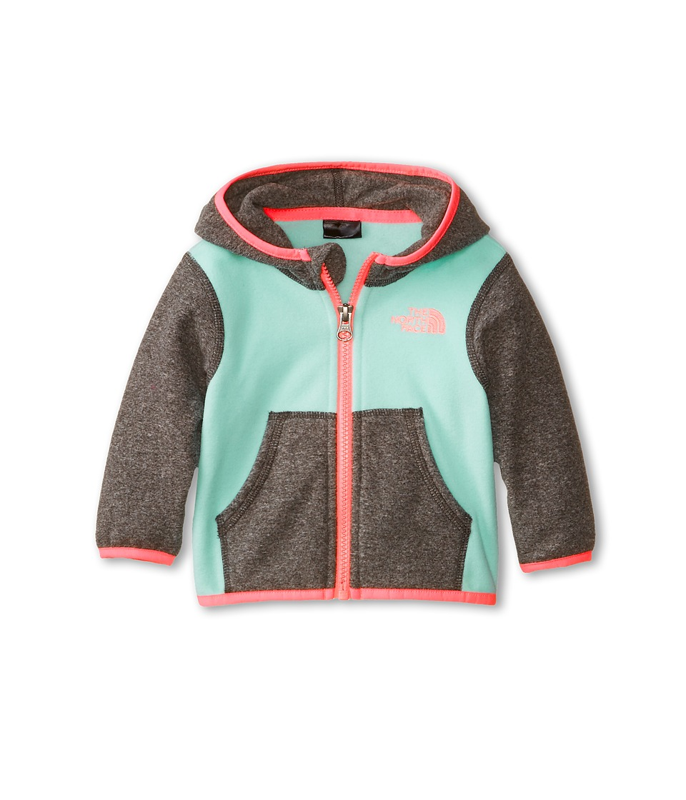 The North Face Kids - Glacier Full Zip Hoodie (Infant) (Surf Green) Girl's Sweatshirt