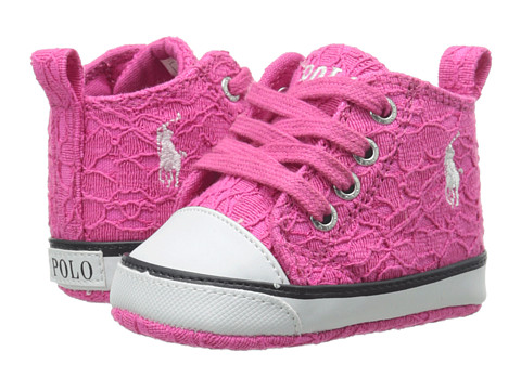Ralph Lauren Layette Kids - Harbour Hi (Infant/Toddler) (Pink Lace) Girls Shoes