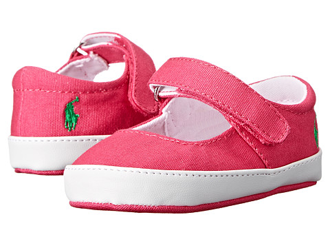 Ralph Lauren Layette Kids - Sandy Mary Jane (Infant/Toddler) (Ultra Pink Canvas) Girls Shoes