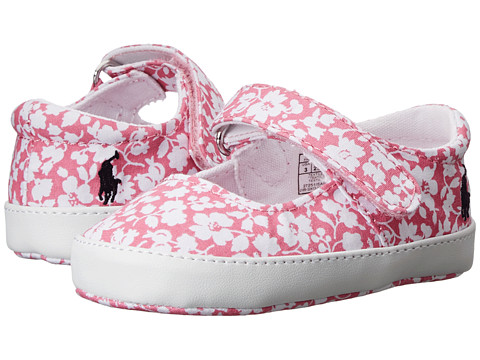 Ralph Lauren Layette Kids - Sandy Mary Jane (Infant/Toddler) (Pink Floral Canvas) Girls Shoes