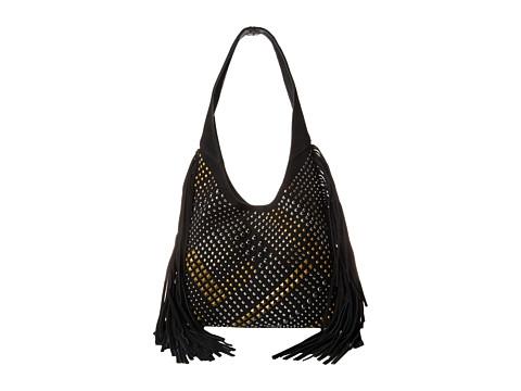 Sam Edelman - Studded Medium Hobo (Black) Hobo Handbags