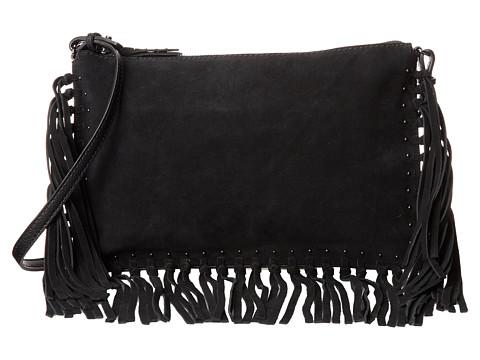 Sam Edelman - Fringe Large Crossbody (Black) Cross Body Handbags