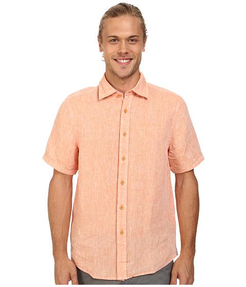 Report Collection - Solid Short Sleeve Linen (Orange) Men
