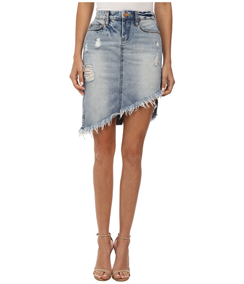 Blank NYC - Distressed Denim Skirt in Total Betty (Total Betty) Women