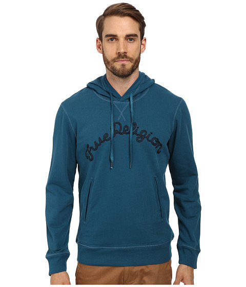 True Religion - Fleece Hoodie (Petrol Blue) Men
