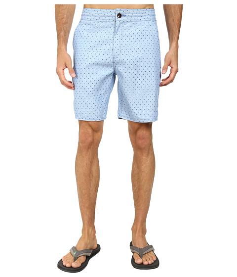 Vans - Oxford Polka Dot Decksider (Pale Sky) Men's Clothing