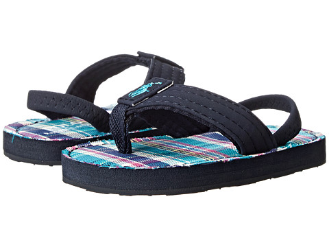 Ralph Lauren Layette Kids - Theo (Infant/Toddler) (Navy Sportbuck/Turquoise Multi Plaid (NX-206)) Boys Shoes
