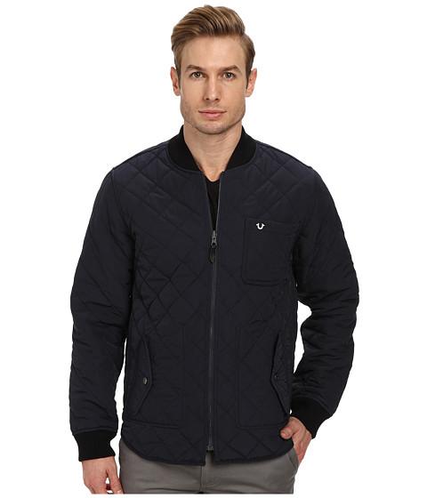 True Religion - Reversible Quilted Jacket (Navy) Men's Coat