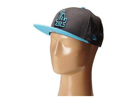 New Era - Neon Logo Redux Los Angles Dodgers Heather Graphite/Blue (Bright Blue) Caps