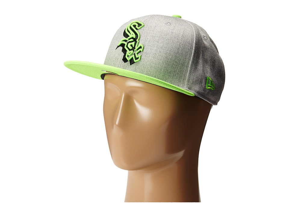 New Era - Neon Logo Redux Chicago White Sox Heather Gray/Green (Bright Green) Caps