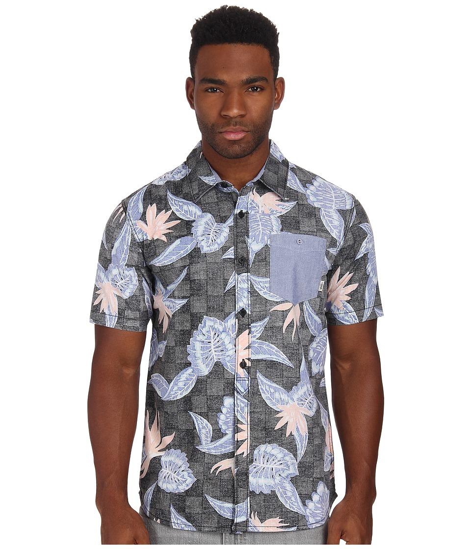Vans - Maxon (Black Checker Floral) Men's Clothing