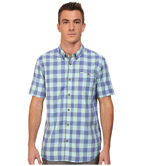 Vans - Milton (Royal Blue/Yucca) Men's Short Sleeve Button Up