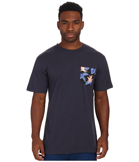 Vans - Checker Floral Pocket Tee (Navy) Men's T Shirt