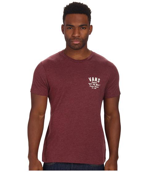 Vans - Custom Classics (Burgundy Heather) Men's T Shirt