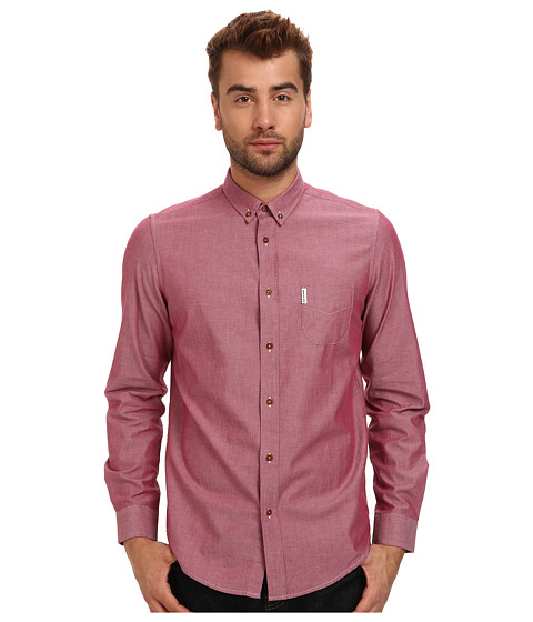 Ben Sherman - L/S Chambray Shirt (Letterbox Red) Men's Clothing