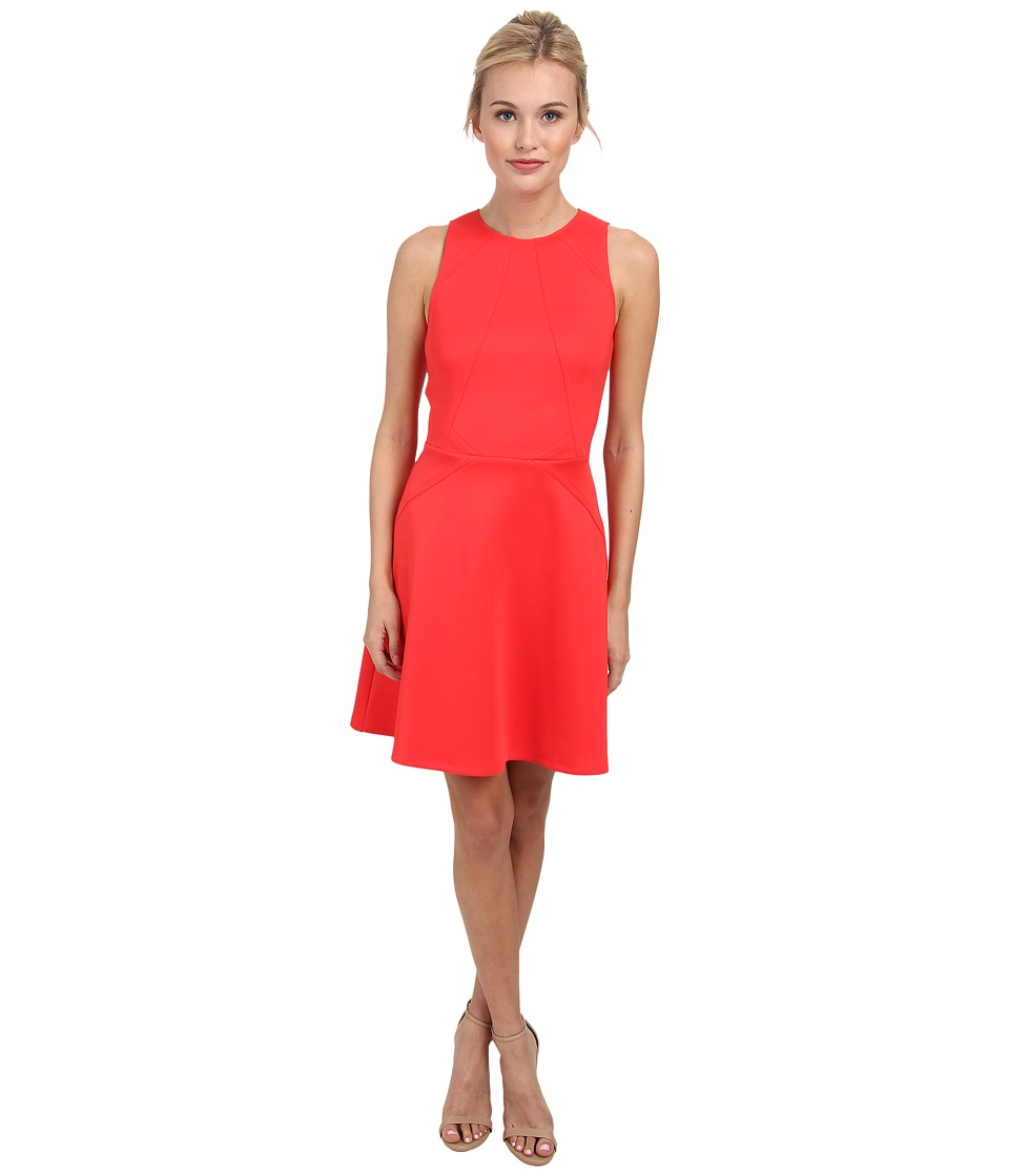 Ted Baker - Mitton Peplum Skater Dress (Mid Orange) Women's Dress