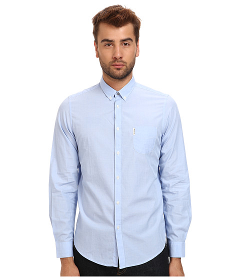 Ben Sherman - End On End Mod Long Sleeve (Directoire Blue) Men's Clothing