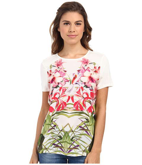 Ted Baker - Renella Mirrored Tropics Graphic Tee (Cream) Women