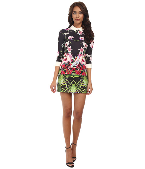 Ted Baker - Youma Mirrored Tropics Collar Dress (Black) Women