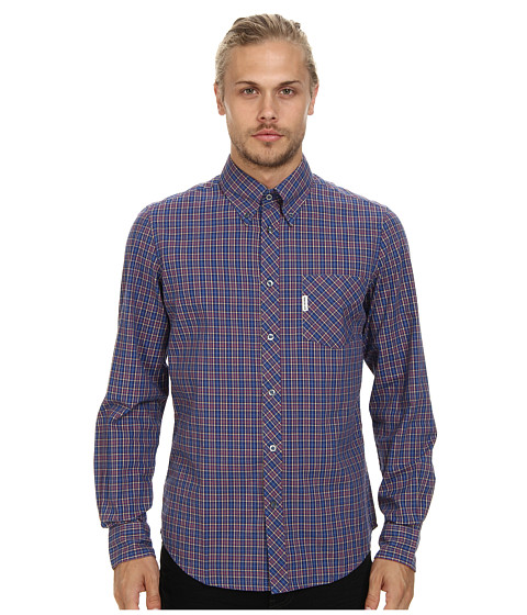 Ben Sherman - L/S Oxford Tartan (Directoire B) Men's Long Sleeve Button Up
