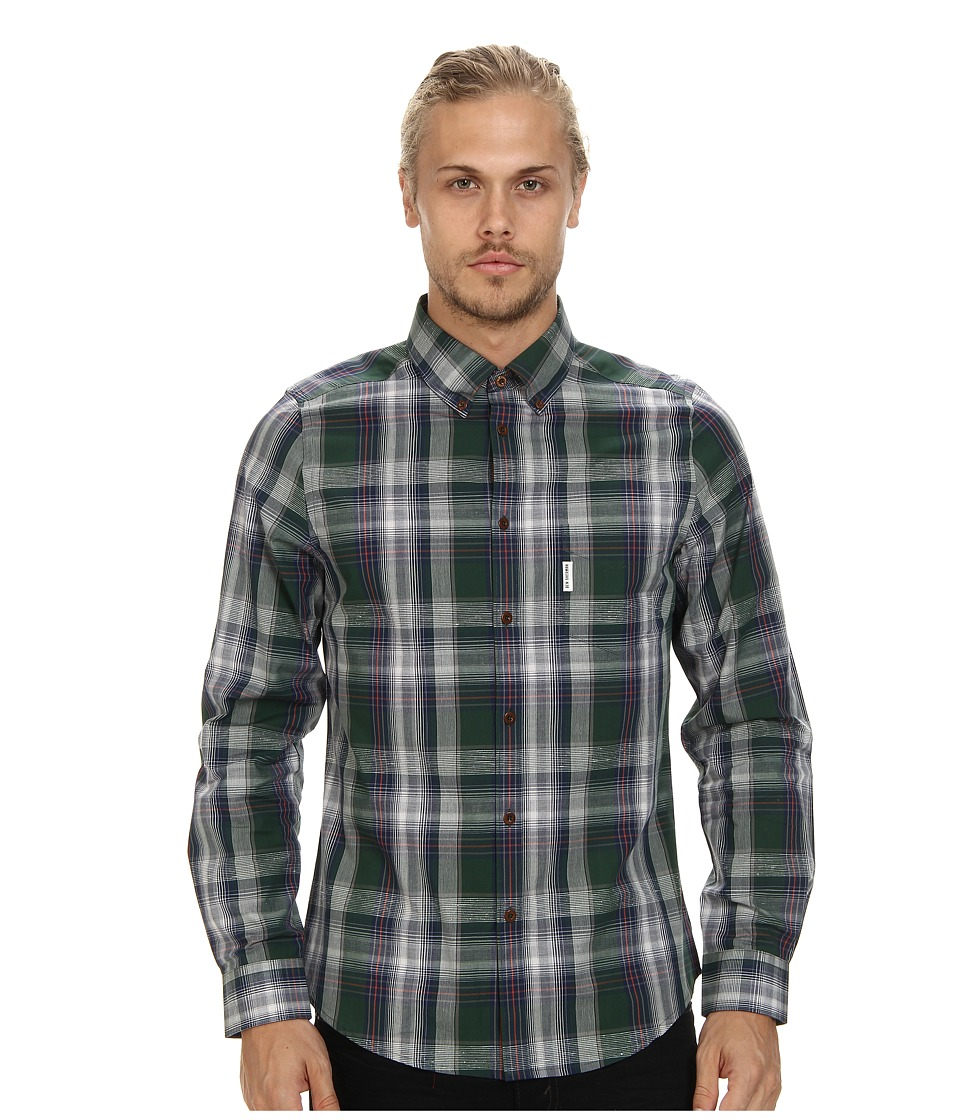 Ben Sherman - L/S Slub Tartan (Pine Grove) Men's Clothing