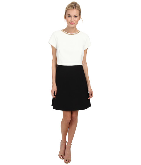 Ted Baker - Ailia Contrast Double Layer Dress (Cream) Women