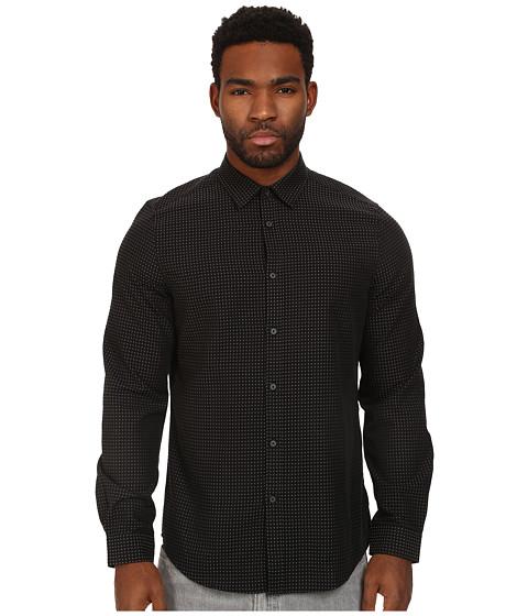 Ben Sherman - Long Sleeve Plain Dobby Oxford (Jet Black) Men's Long Sleeve Button Up