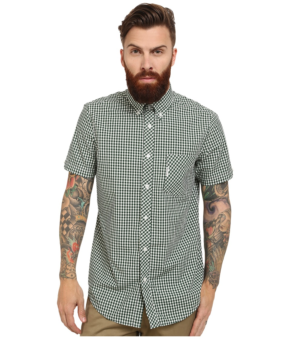 Ben Sherman - Gingham Mod Short Sleeve (Forest Night) Men's Clothing