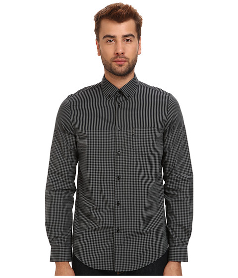 Ben Sherman - L/S Engineered Gingham (Peat) Men