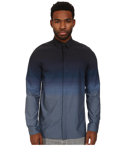 Ben Sherman - Long Sleeve Graduated Tonic (Blue Depths) Men's Long Sleeve Button Up
