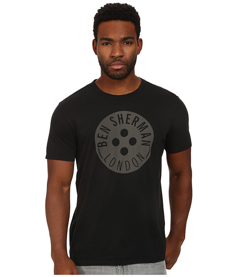 Ben Sherman - Button Logo (Jet Black) Men's T Shirt