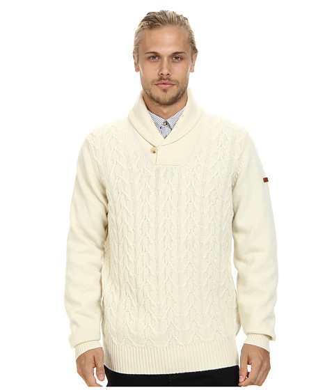 Ben Sherman - Texture Shawl Collar (Ivory) Men's Clothing