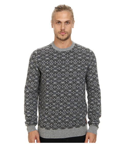 Ben Sherman - Jacquard Crew Sweater (Silver Chali) Men's Sweater