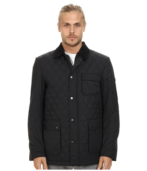 Ben Sherman - Quilted Field Jacket (Jet Black) Men's Coat