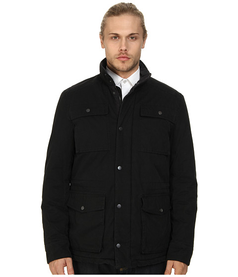 Ben Sherman - Field Jacket Dry Wax Coated (Jet Black) Men's Coat