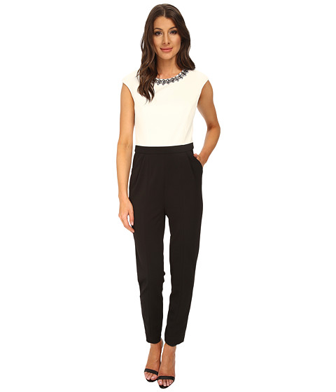 Ted Baker - Indya Embellished Tapered Jumpsuit (Black) Women's Jumpsuit & Rompers One Piece