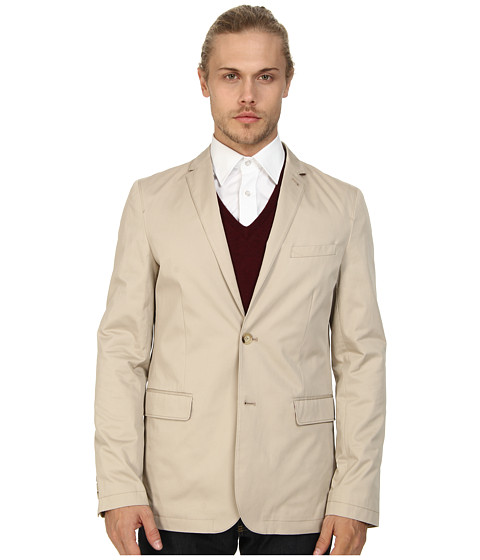 Ben Sherman - Cotton Twill Blazer (Feather Grey) Men's Jacket