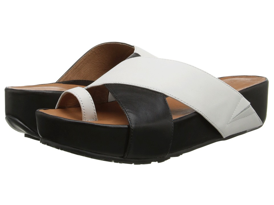 Gentle Souls - Elton (White/Black Leather) Women's Sandals