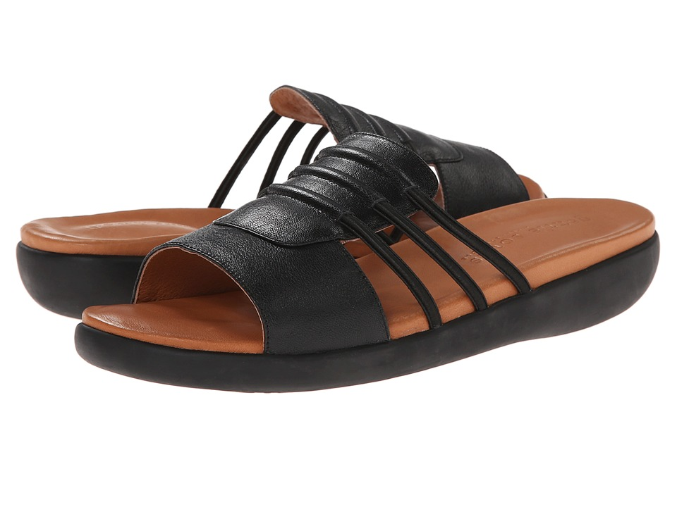 Gentle Souls - Gail (Black Leather) Women's Sandals