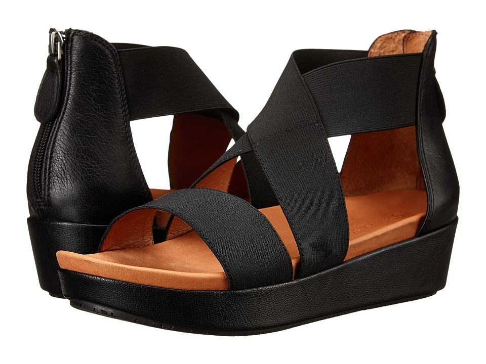 Gentle Souls - Josie (Black Elastic) Women's Sandals