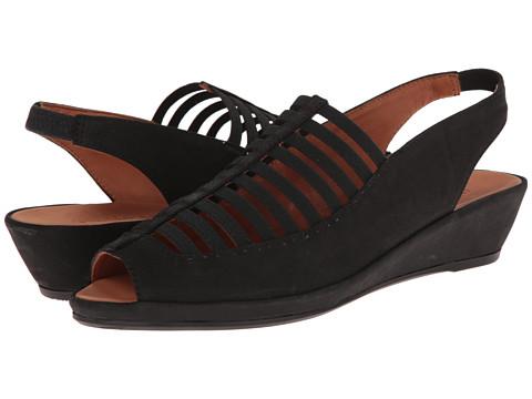 Gentle Souls - Lee (Black Nubuck) Women's Sling Back Shoes