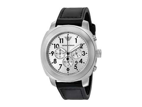 Emporio Armani - Delta AR6054 (Black/Silver) Watches